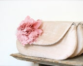 Blush pink wedding clutch, Bridesmaid gift ideas, Personalized gifts, Bridal purse