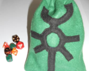 Dice Bag: Necrons Warhammer 40K Gaming Pouch in Green