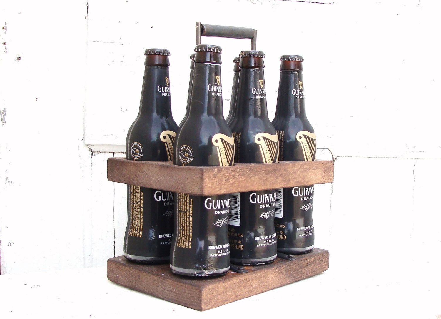 Beer Caddy Holder 6 Pack Groomsman Gift Rustic