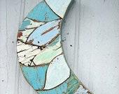 Blue Moon Reclaimed Wood Mosaic Art