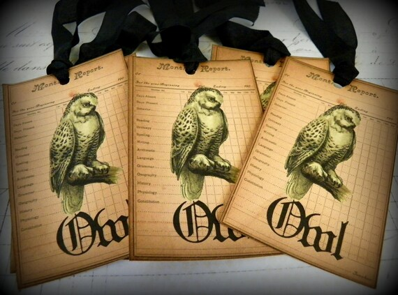 Owl Post-Vintage Style  Gift Tags