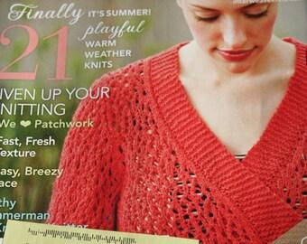 Knitting Patterns Interweave Knits Magazine Summer 2011 Sweater Cardigan Vest Hat Skirt Hoodie Tank Top Socks Paper Original NOT a PDF