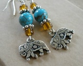 Indian Elephant Earrings