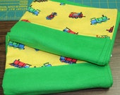 Flannel Pillowcase Set- Trains