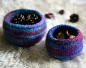 Wool Felt Bowls - set of 2