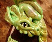 RESERVED- AILISH - Dragon Guardian -  Lampwork Bead by Mary Lockwood