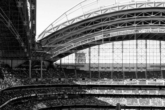 Milwaukee Brewers Stadium, Miller Park, 11x14, Black and White, Fine Art Print