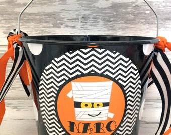 Personalized 5 Quart Halloween Bucket