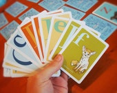 Matching Memory Card Game for kids under appreciated animals ABCs educational go fish card deck by mightyPigeon