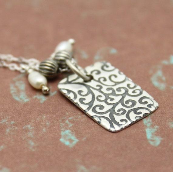 SALE 50% OFF- Swirl Pattern  Necklace