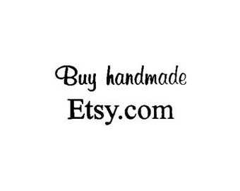 CLEARANCE Small Buy Handmade Etsy.com Rubber Stamp