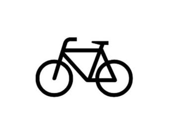 Large Bike Bicycle Rubber Stamp