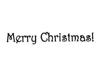 CLEARANCE Merry Christmas Rubber Stamp