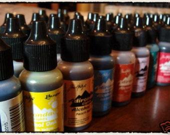 Tim Holtz Alcohol Ink Earth tones set 24 colors NEW