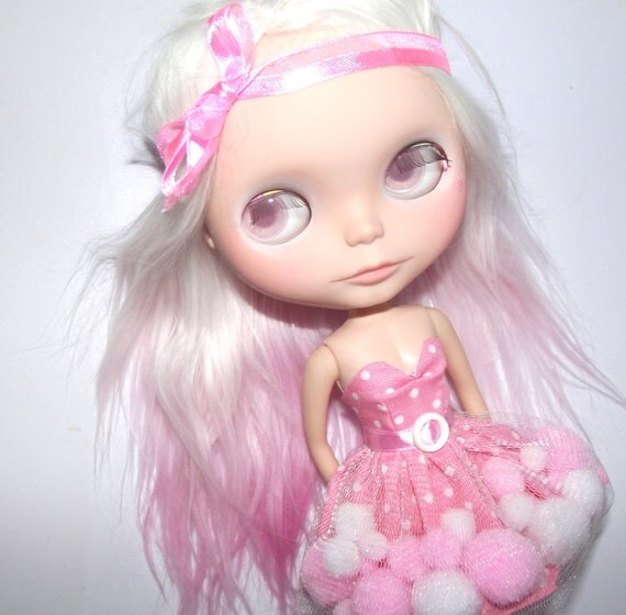 Bubblegum strapless dress for Blythe and Pullip - made to order