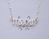 meow necklace - all sterling silver