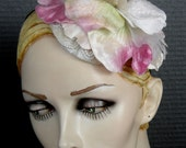 Velvet Pink Flower Fascinator Headpiece On Sale