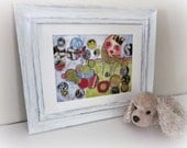 "Humpty Dumpty/Whimsical Nursery Wall Folk Art 8.5 x 11"" Print by Artist Shelley Szczucki"