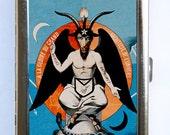 Baphomet Satan Cigarette Case Wallet Business Card Holder gothic psychobilly horror witchcraft