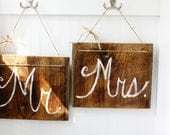 Barn Wood Mr. and Mrs. Signs