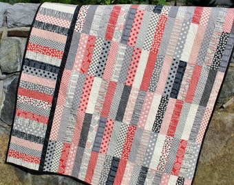 Quilt Pattern.....Jelly Roll and Fat Quarter friendly, ..Baby, Lap and Twin size, P.S. I Love You