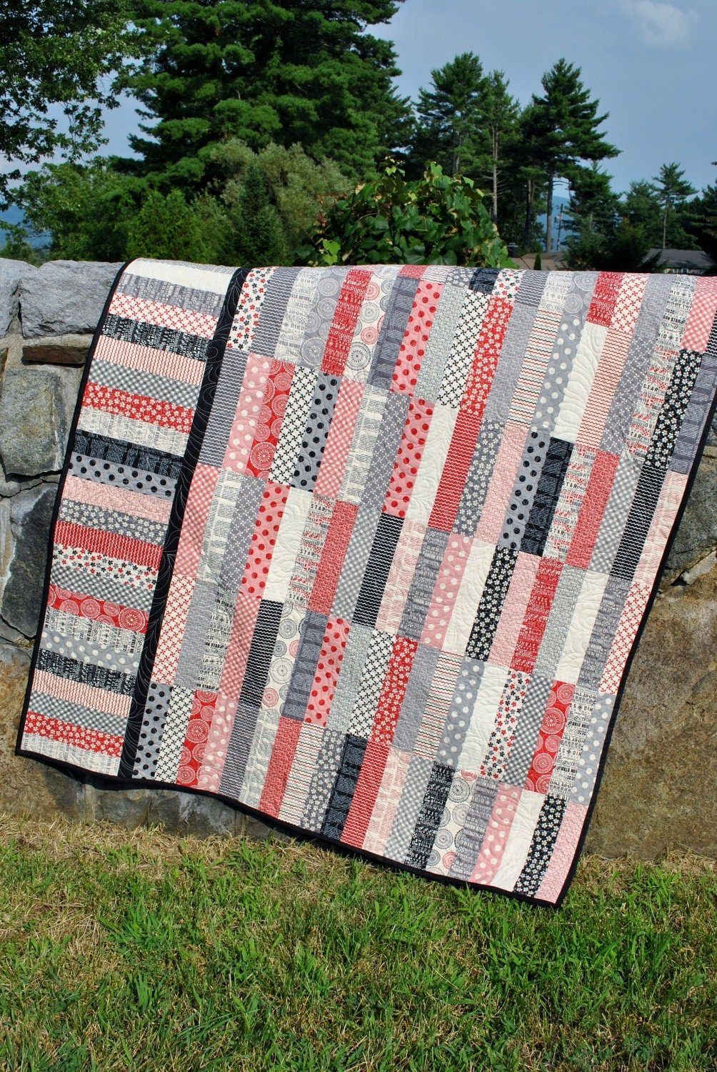 Pdf Quilt Pattern Jelly Roll And Fat Quarter Friendly
