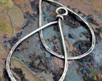 Sterling Silver filled Teardrops, natural or antiqued, handmade findings, PurpleLilyDesigns