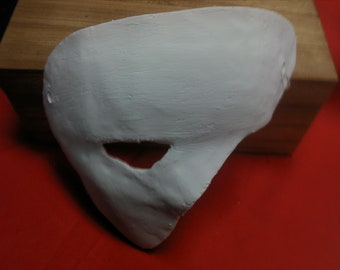 Right Half Face Blank Mask Base for Cosplay, Steampunk, LARP, and Lot5R - Multiple Colors Available
