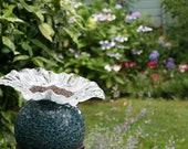 One of a kind Mosaic Garden Globe Birdfeeder