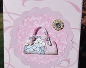 Purse All Occasion Greeting Card in Amy Butler Style