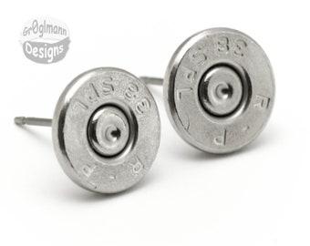 Remington 38 Special Stud Earrings :) Pistol Bullet Casing Shell