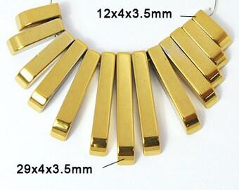 B Quality Gold Hematite Mini Cleopatra Collar Fan 13pc Bead Set