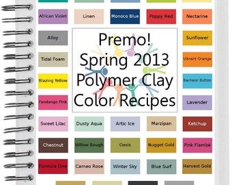 Premo Spring Summer 2013 Polymer Clay Color Recipes Ebook