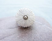 Sterling Silver Sea Urchin Ring White Sultan Ring - StaroftheEast