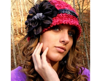 Crochet Hat Patterns - Womans Crochet Hat Pattern - Tute on Flower w/ Vintage Jewelry Lace Baby Crochet Pattern No.58