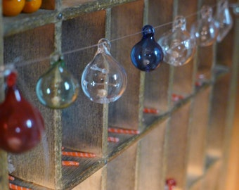 MINIATURE Glass Ornament Hand Blown and Sculpted by Jenn Goodale
