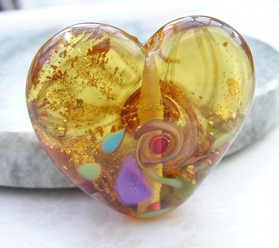 Lampwork Glass Beads Loves Reaction