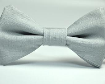 Gray Boy's Bow Tie Cotton Bowtie for Children