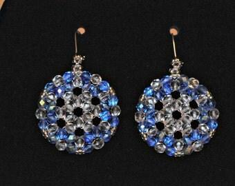 Catri - Circular Triangle Weave Earrings