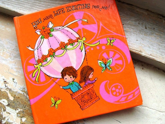 Vintage You Make Life Exciting For Me Kawaii Gift Card Booklet