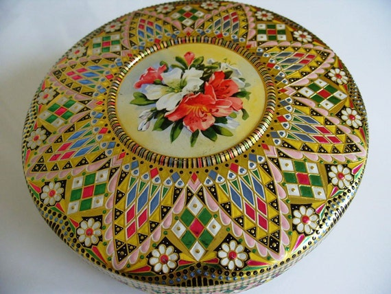 Vintage Metal Decorative Tin Made in Holland