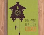 funny birthday card / cuckoo clock