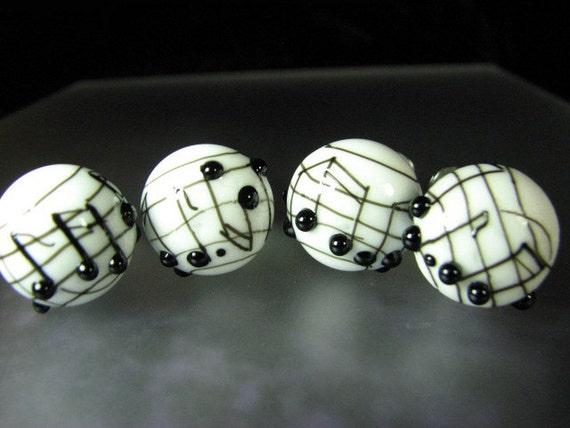 Cabinet Knobs Drawer Pulls Lampwork Glass Musical Staff SRA
