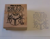 When in doubt read : used rubber stamp