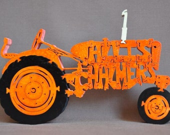 Allis Chalmers Farm Tractor Wooden Toy Puzzle Hand Cut