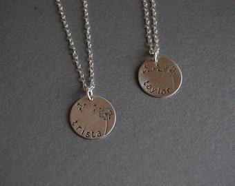 Personalized Dandelion Necklace