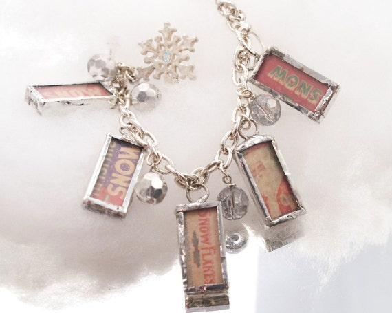 SNOW Santa Bracelet Soldered Charms One-of-a-Kind Charm Bracelet