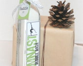 Gymnast Bubble Bath Gymnastics Bottle with label -Personalized  Great for a  Party Favor or little gift