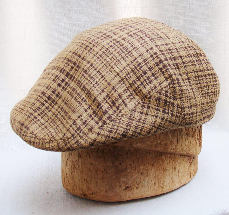 Custom Handmade Men S Hat Lightweight Golf Cap In Tan