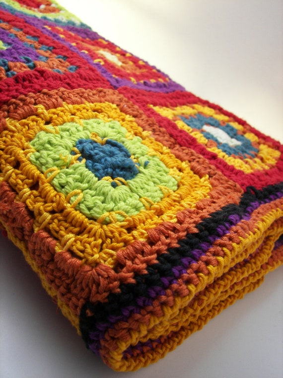 Soft unisex bright rainbow cotton BABY blanket